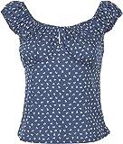Küstenluder Damen Oberteil Kaija Vintage Sailor Anker Bluse Blau 2XL