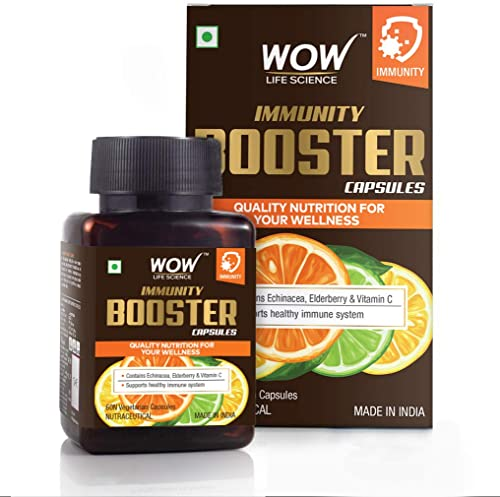 WOW Life Science Immunity Booster Capsules Support Healthy Immune System 60 Veg Capsules