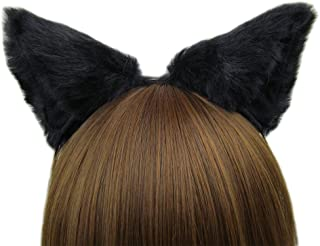 Women cat ear Headband Halloween Cute Party Anime Cosplay Costume Kitty Cat Ears Black Hairband