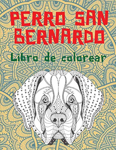 Perro San Bernardo - Libro de colorear