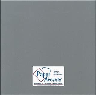 Accent Design Paper Accents Cdstk Canvas 12x12 80# Cloak Gray