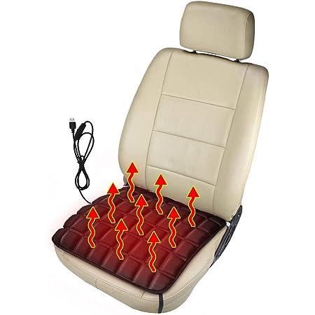 Heizung Auto Sitzkissen Beheizbare Kissen Sitzheizung Auto Aus Memory Schaum Usb Zigarettenanzünder Komfort Sitzkissenheizung Perfekt Für Kaltes Wetter Und Winterfahrten Schwarz Usb Auto