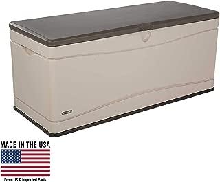 130-Gallon Deck Box, Lockable Lid, Dual Wall, Weather Resistant, Polyethylene