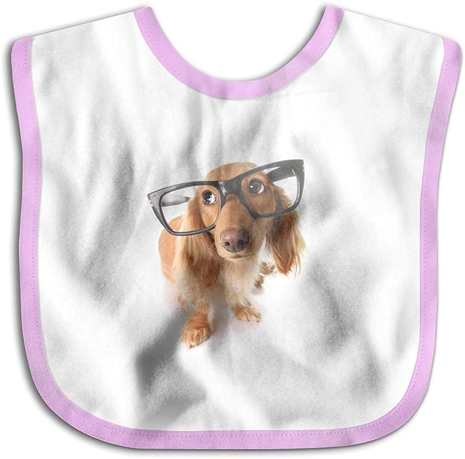 拍車銀通常よだれかけ スタイ 口拭きタオル 眼鏡をかけている犬 ベビー ビブ 赤ちゃん ギフト 柔らか 吸水/速乾 おもしろ 男の子/女の子/出産祝い/お食事/授乳/おでかけ
