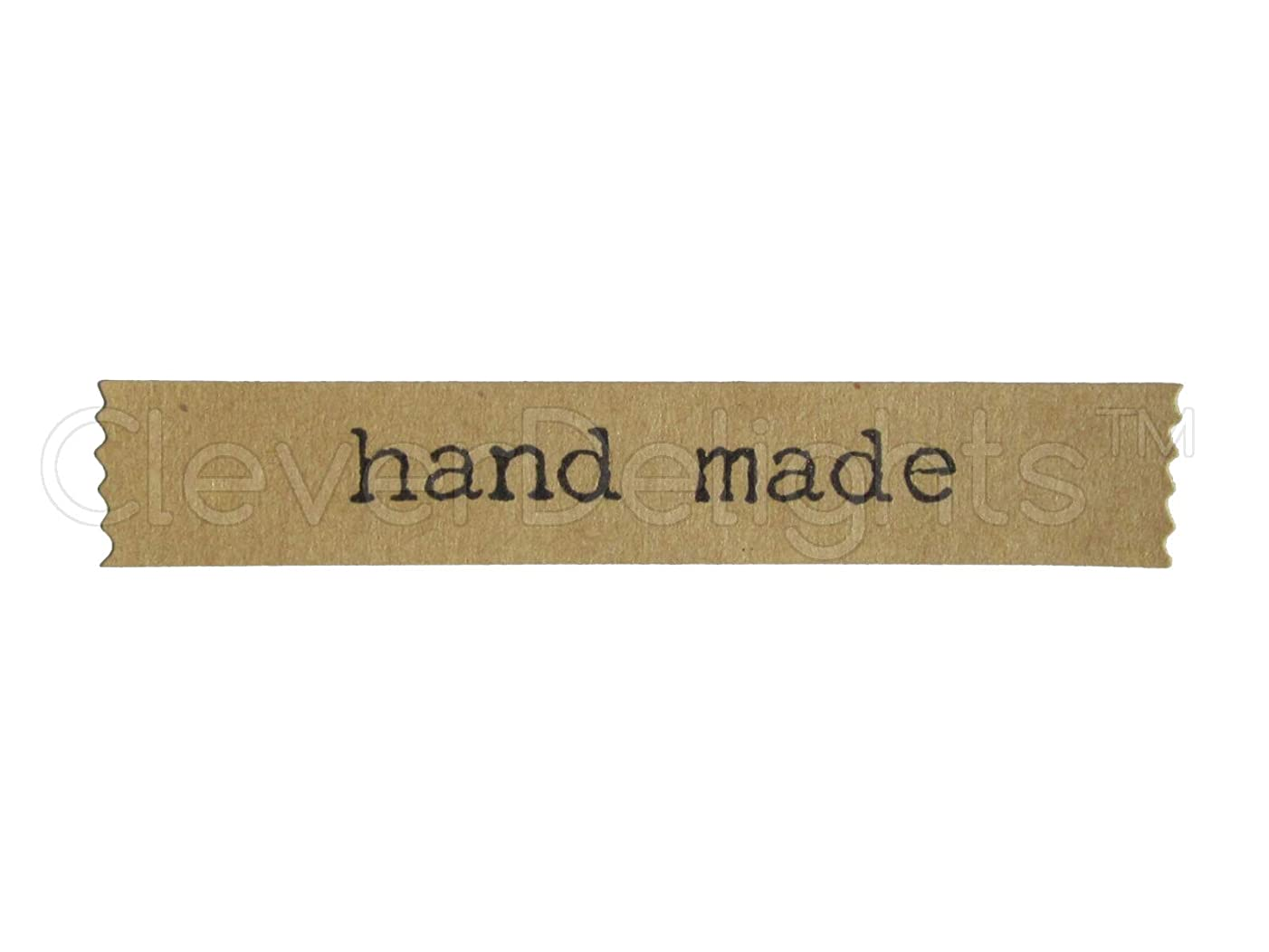 144 Pack - CleverDelights Hand Made Stickers - Kraft Banner Design - Kraft Paper Stickers - 2 3/4