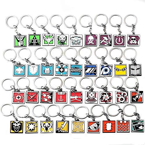 Schlüsselbund Spiel Rainbow Six Siege Schlüsselkette Männer Frauen Schädel Metall Schlüsselanhänger Männlich Anime Schlüsselringhalter Geschenk Schlüsselring Zufällige Lieferung