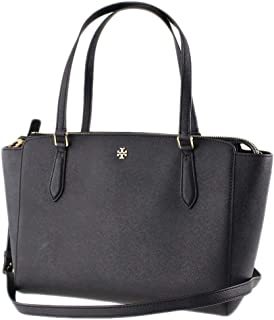 Tory Burch Emerson Small Top Zip Tote Black