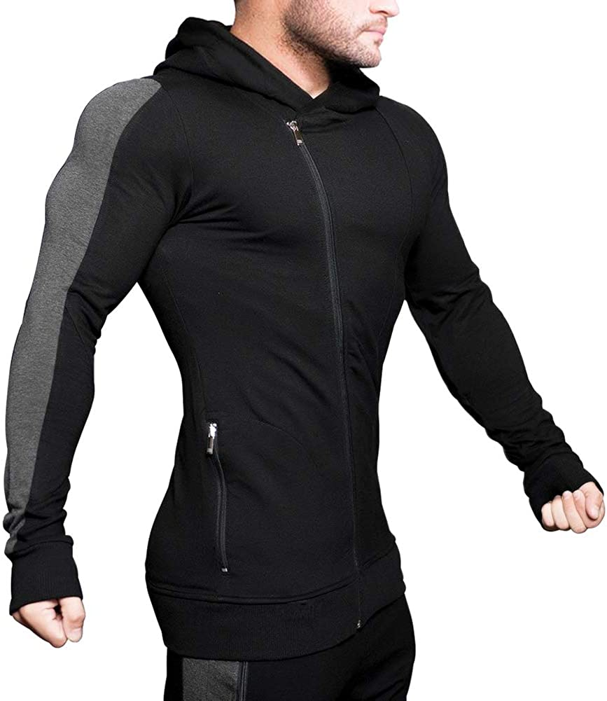 MECH-ENG Men's Gym Fixed price for sale Workout Long Hoodie Muscle Active Sleeve Ranking TOP15 Body