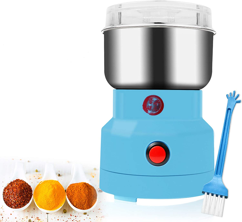 Kaiyashengled Molinillo De Grano eléctrico, 150W Multifunction Smash Machine Café Molinillo para triturar Bean, Herb, café, Especias, Granos, Semillas Grinder