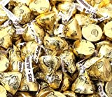 CrazyOutlet Hershey's Kisses Almond Gold Foils Milk Chocolate Mother's Day Candy Bulk, 1 Lb Bag