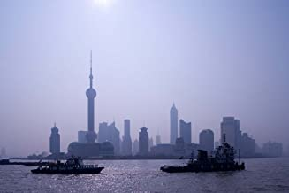 Water Traffic Along Huangpu River Passing Oriental TV Tower and Pudong Skyline, Shanghai, China by Paul Souders/Danita Delimont Art Print, 48 x 32 inches