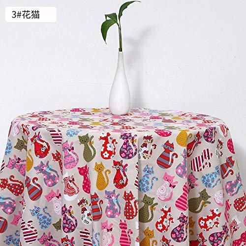 Canvasstof, tafelkleed met dierenprint, dik katoen en linnen stof-3