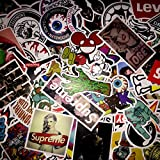 (Not Random)100 Piece Skateboard Stickers Vintage Vinyl Laptop Luggage Decals Dope Sticker Mix Lot