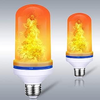 Larkin Flame Light,LED Flame Effect Light Bulb E26 for Halloween Christmas Home Bar Hotel Party Decorative Lights (2 Pack)