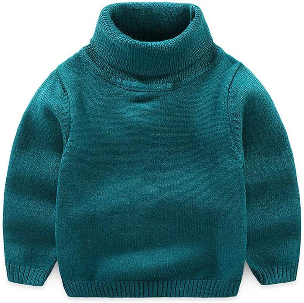 Mud Kingdom Little Boy Pullover Sweater Turtleneck Green Size 6