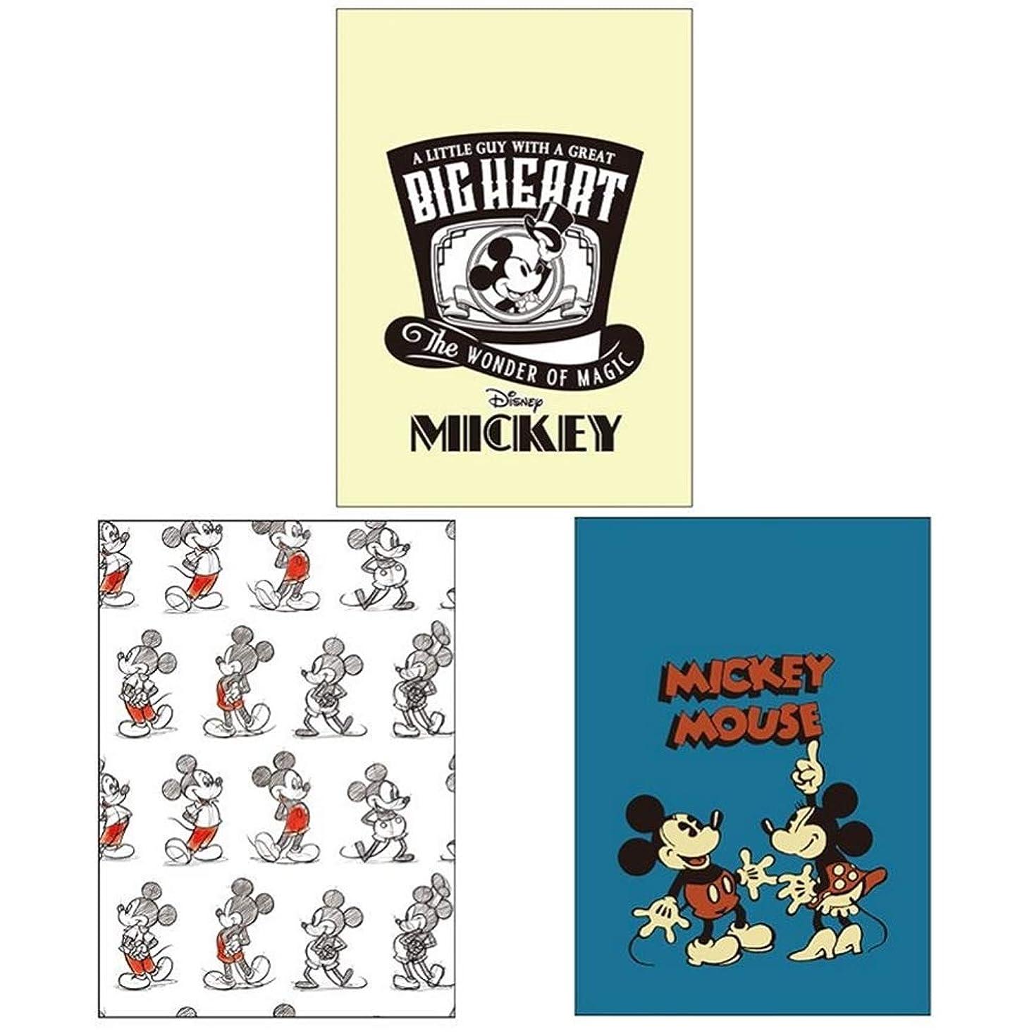 気質超えて生産的ダイゴー ディズニー ミッキー&ミニー メモ ミッキー90周年 A6 3冊 T8250