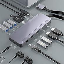 USB C Hub MacBook Pro Air, Thunderbolt 3 Docking Station Compatible con MacBook Pro 2020-2016 y MacBook Air 2020-2018, Ada...