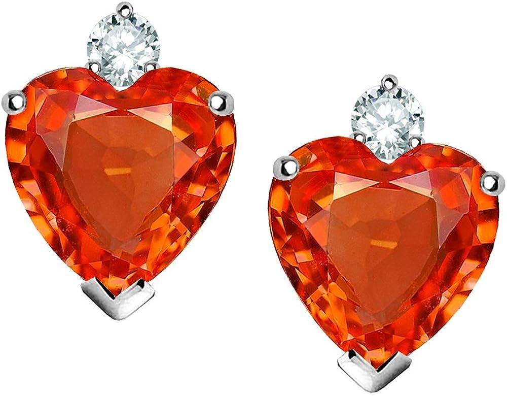 Star K Sterling Silver Heart Ranking TOP14 Studs Max 57% OFF Earring 7mm Shape
