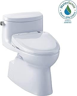 TOTO MW644584CEFG#01 WASHLET+ Carolina II One-Piece Elongated 1.28 GPF Toilet and WASHLET S350e Bidet Seat, Cotton White