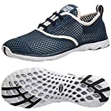 ALEADER Men's Quick Drying Aqua Water Shoes Blue 12 D(M) US