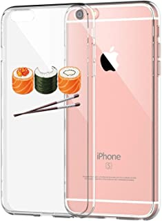 Matop Compatible for iPhone 6 Plus/6S Plus Case Protective Soft TPU Bumper Shock Absorption Cover Protector Sushi Crystal Clear Anti-Scratch Slim Thin for iPhone 6 Plus/iPhone 6S Plus (Sushi)