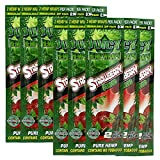Juicy Jay Hemp Wraps Strawberry (10 Packs, 2 Wraps Per Pack) Total 20 Wraps with ES Scoop Card