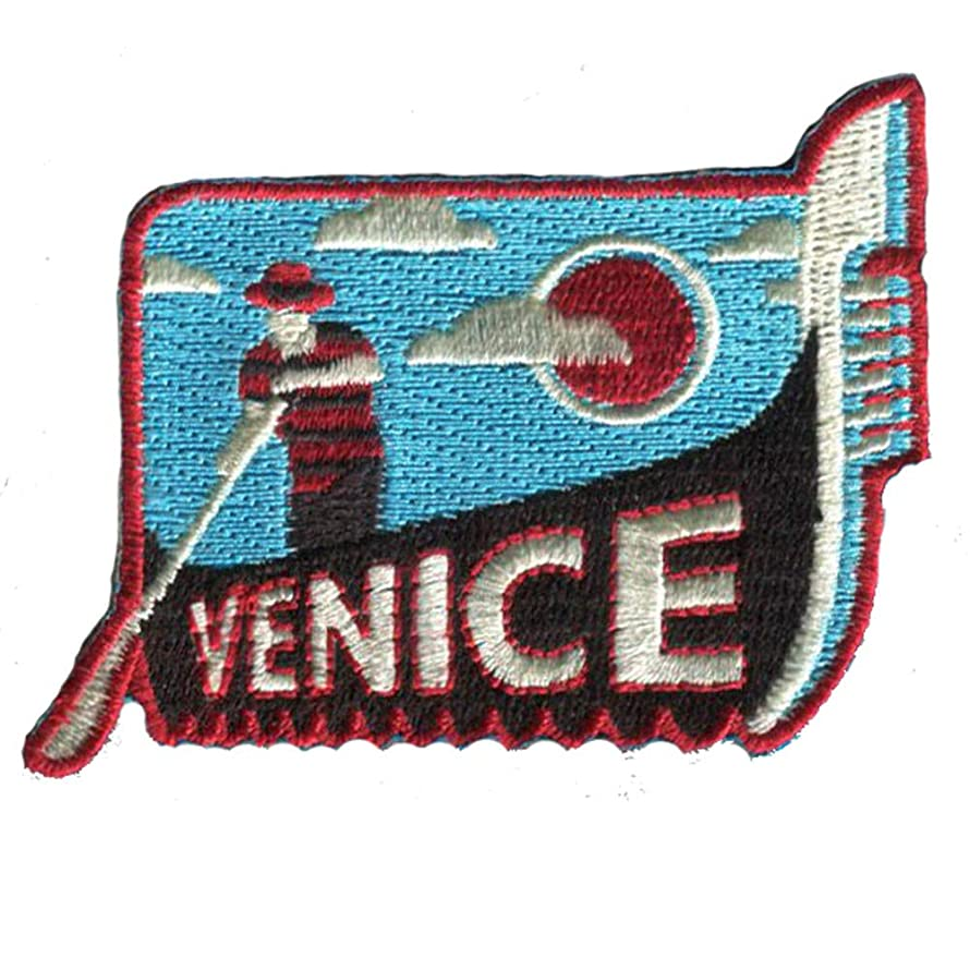Venice Italy Iron On Travel Patch/Gondola and Gondolier Patch/Great Gift or Souvenir for Backpack Travellers