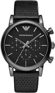 Emporio Armani Men's AR1737 Dress Black Leather Watch