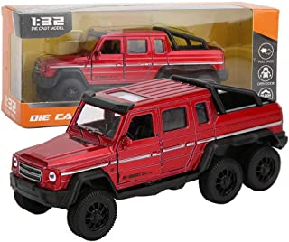 1:32 Off-road Vehicle Model Collection Alloy Pick-up Truck Toy With Sound and Light Pull Back Car Miniature Home Decor Bir...