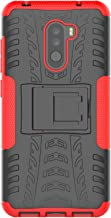 XINFENGDI Funda Xiaomi Pocophone F1,Carcasa Dura Protección 360° Cubiertas Móviles Anticaídas Resistente Arañazos TPU Caso Protector Xiaomi Pocophone F1 Soporte de Pie - Rojo