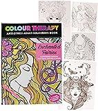 alles-meine.de GmbH 1 Stück _ A4 - großes Malbuch -  Colour Therapy - Feen & Elfen - Fabelwesen  - 64 Seiten - Anti Streß - für Erwachsene & Kinder - Tattoo Dot Style - Buch zu..