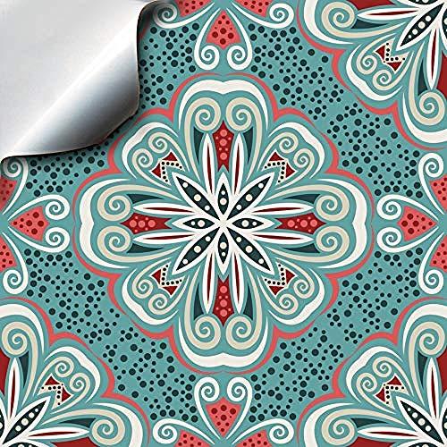 Türkische Minze Kleber Mosaik Wandaufkleber 20 * 20cm Fliesenaufkleber Marokko Portugal Victoria Retro traditionellen Stil Wandaufkleber und Fliesenaufkleber