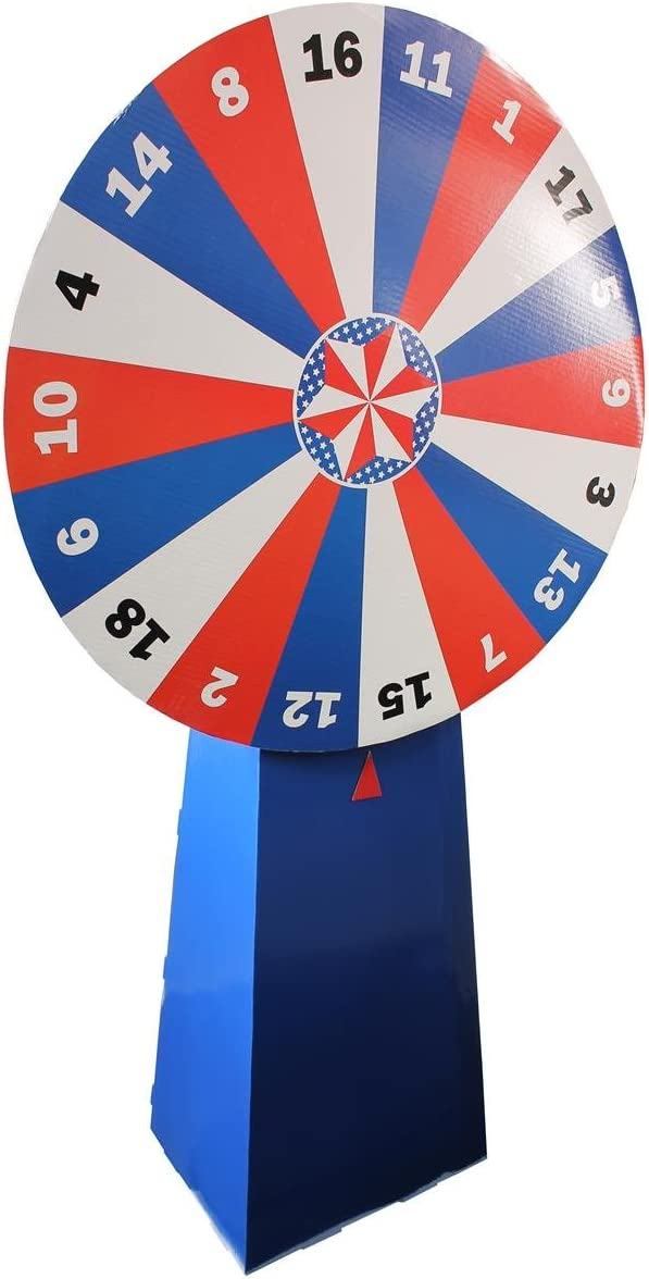 Displays2go Free-Standing Cardboard At the price Prize Al sold out. with Numbered Wheel 18