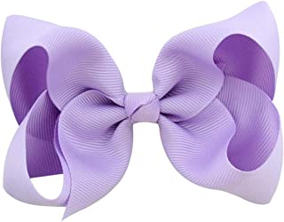 Balalei 3/4/6/8inch Boutique Handmade Colorful Solid Ribbon Grosgrain Hair Bow With Clips For Kids Girls Hair Accessories,25,6inch