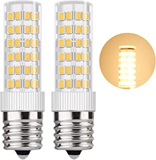DiCUNO E17 LED Bulb 5 Watt Appliance Bulb Microwave Oven Light 3000K Warm White, 550lm, 50W Halogen Equivalent Non-dimmable (2-Pack)