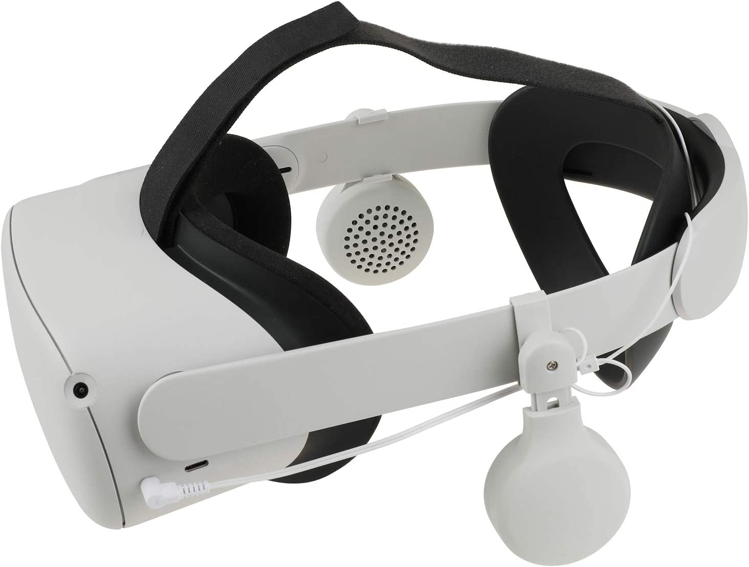 Elygo VR Enhancing Sound Over Ear Headphone for Oculus Quest 2 Elite Strap Rotate 360 Degrees -3.5 mm Aux Connector Oculus Quest 2 Accessories