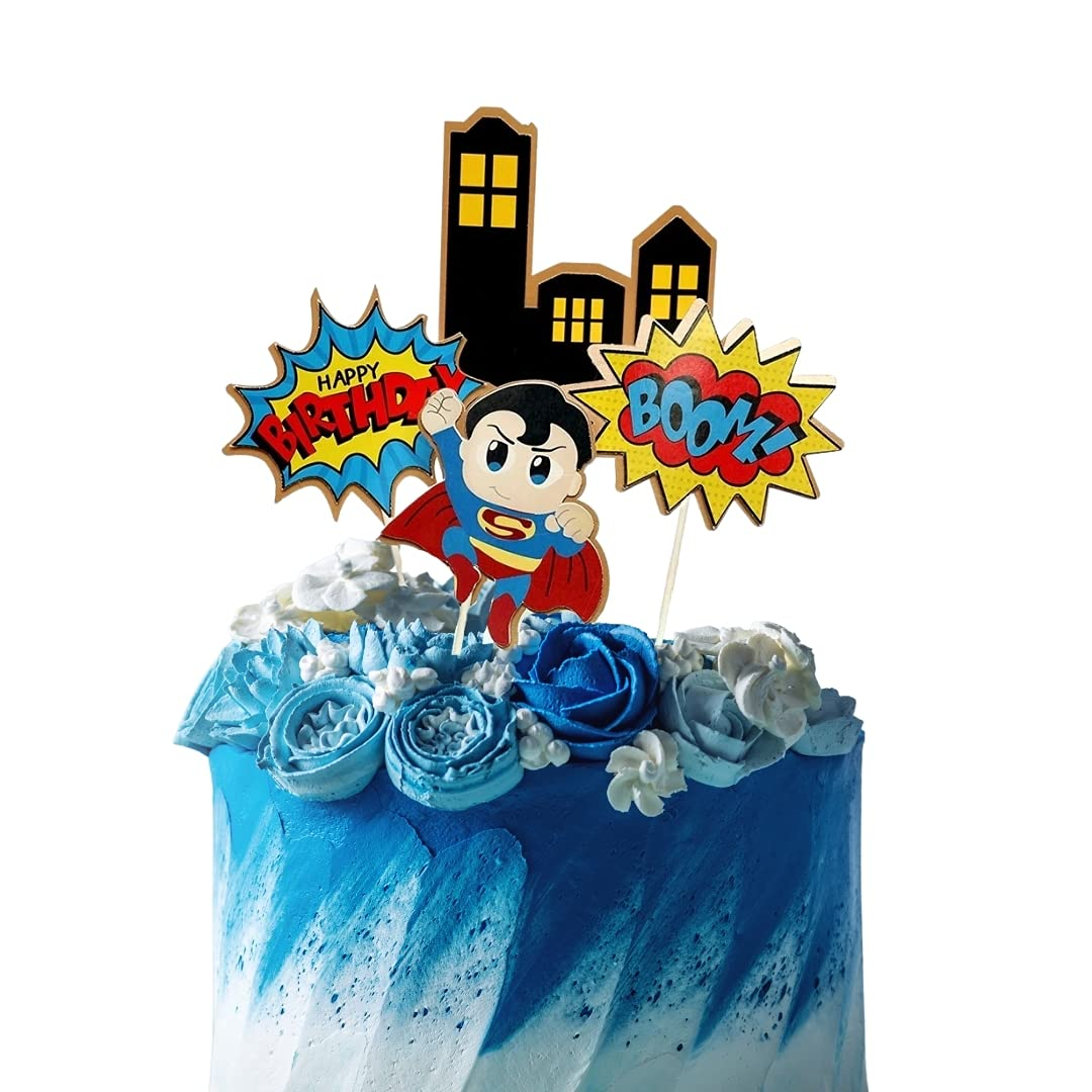 Max 85% OFF Superhero Inspired Cake Topper Birthday BOY Large discharge sale Girl or Cupcake