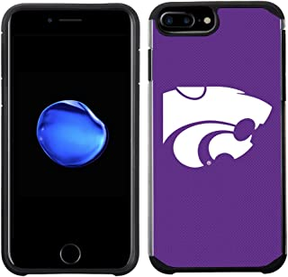 Prime Brands Group Textured Team Color Cell Phone Case for Apple iPhone 8 Plus/7 Plus/6S Plus/6 Plus - NCAA Licensed Kansa...