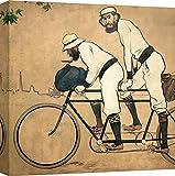 Art Print Cafe – Cuadro – Impresion Sobre Lienzo - Ramon Casas, Ramon Casas y Pere Romeu en un tándem – 40x40 cm