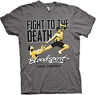 Bloodsport Officially Licensed Fight to The Death Mens T-Shirt (Darkgrey)