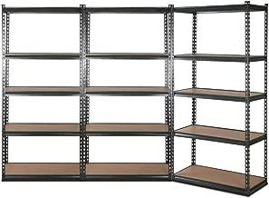 3x New Giantz Steel Warehouse Storage Rack Garage Shelving Racking Unit Grey