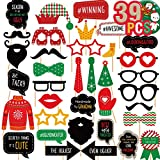 Funnlot Ugly Sweater Party Supplies Ugly Sweater Party Photo Props Naughty Ugly Christmas Sweater Photo Booth Props Kit Ugly Sweater Party Favor for Holiday Party for Girls Parents