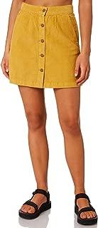 Thrills Women's Tahli Cord Skirt Fitted Yellow