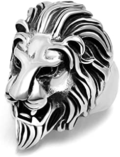 7ab8424246 StoresHub Stainless Steel Roaring Lion Head Unique Design Ring for Men and  Boys In Golden &