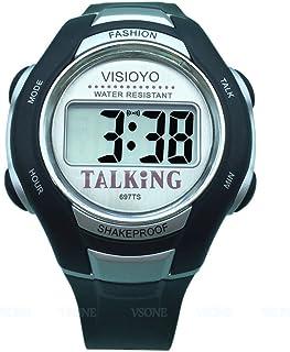VISIONU Nergo Reloj Parlante en Español para Ciegos, Niños, y Los Ancianos, Deportes Electrónicos Hablar Relojes Gatget Re...