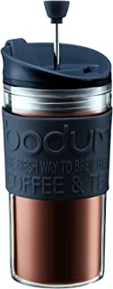 Bodum K11102-01 Travel Press Set Coffee Maker with Extra Lid, 12 oz, Black