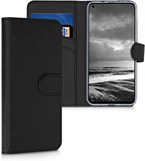 kwmobile Wallet Case for Huawei Honor View 20 - Protective PU Leather Flip Cover with Magnetic Closure, Card Slots and Kickstand