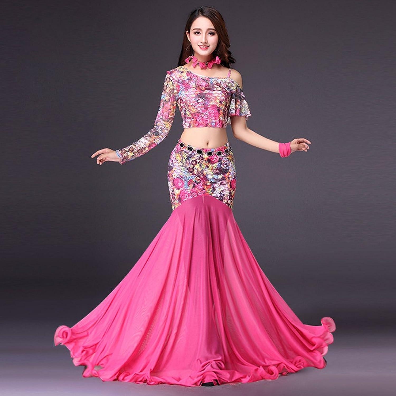 Xueyanwei Professional Lady Belly Dance Costumes Indian Dance Dress Dance Big Swing Skirt Dance Competition Performance Dress