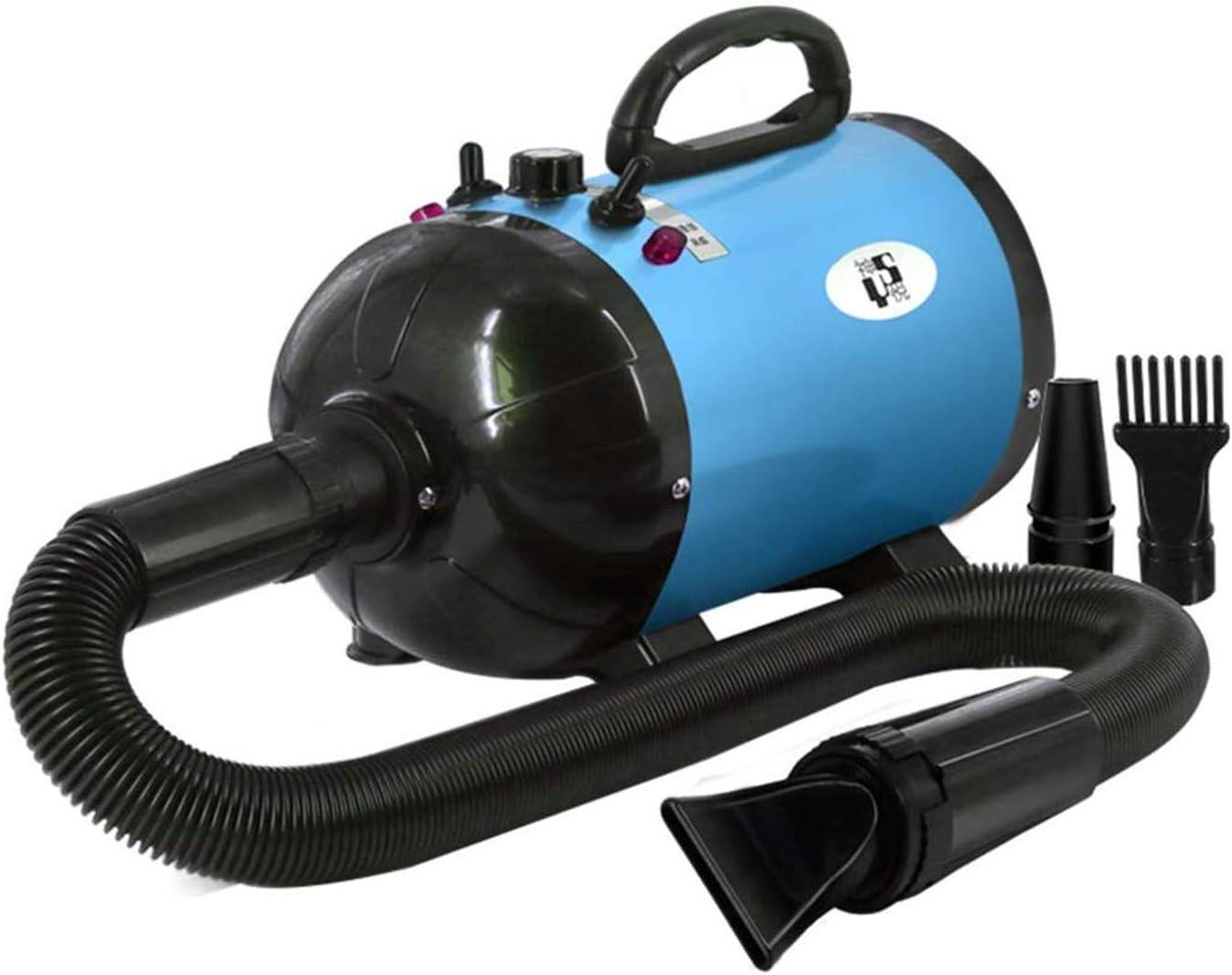 SXCWC Blowing Profesional del Animal doméstico Especial Belleza del Perro de Agua máquina de soplado de Alta reducción de Ruido Silencio Pequeño Medio Grande Y Perro Blowing Secador de Pelo,Azul