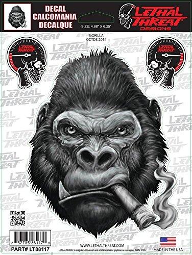LETHAL THREAT Sticker. Hochwertige Aufkleber aus Vinyl fuer Motorrad, Roller, Helm, Auto, Boards etc LT88117